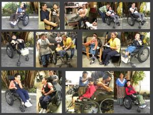 noen av de som har fått rullestoler